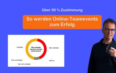 Über 90 % Zustimmung: Was ein Online-Teamevent erfolgreich macht